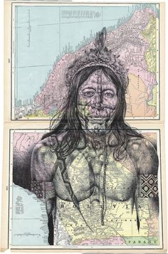 bic biro on antique maps commission on Behance Collages, Collage Art, Portraits, Portrait Art, Drawing Projects, Art Projects, A Level Art Sketchbook, Sketchbook Ideas, Biro Drawing