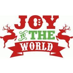 Silhouette Design Store - Search Designs : joy to the world