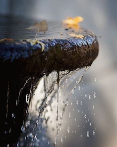 Water flowing from a fountain GIF