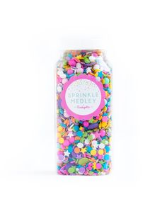 "The original ""Sprinkle Medley!"" CAROUSEL is a one of a kind mix of some of the happiest sprinkles in the universe: colorful candy beads, star quins, pastel conf"