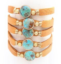 The circular stones on this bracelet are amazing! Mary P. Lamb Designs
