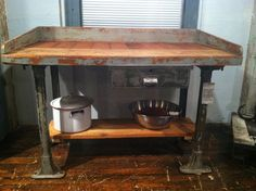rustic modern industrial kitchen island made from by reworxct