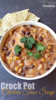 Crock pot Chicken Taco Soup Recipe - A Spark of Creativity