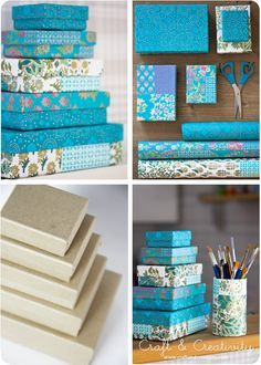 How to get perfect corners on paper covered boxes..great for storing craft supplies!