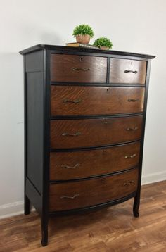 Tiger Oak Dresser in Lamp Black & Java | General Finishes Design Center