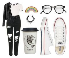"""""""Sin título #514"""" by immoverthemoon on Polyvore featuring moda, Topshop, Converse, Georgia Perry y Natural Life"""