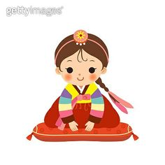 Cute little girl in Korean traditional costume - 게티이미지뱅크 Cute Little Boys, Cute Girls, Cartoon Kids, Girl Cartoon, Korean Thanksgiving, American Cartoons, Korean Traditional, Diy Canvas Art, Cute Images