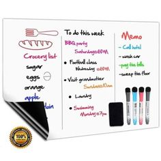 From Magnetic Whiteboard Fridge White Board Weekly Planner For Kitchen Shopping List Memo Notice Board Meal Menu Daily Planner Children Graffiti And Easy Wipe Magnet Boards 4 Marker Pens And 1 Eraser Include Home Decor Signs, Diy Home Decor, Cheap Wedding Decorations, Magnetic White Board, Diy Baby Gifts, Weekly Meal Planner, Menu, Kids Health, Children Health