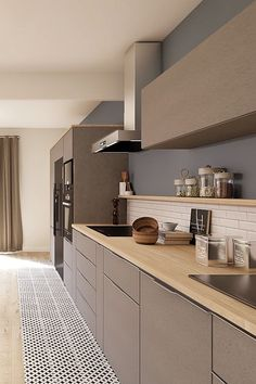 project directed by Marion. A living room style design and contemporary. Deco # Source by rhinov_ Kitchen Room Design, Modern Kitchen Design, Home Decor Kitchen, Interior Design Kitchen, New Kitchen, Kitchen Ideas, Kitchen Inspiration, Kitchen Designs, Awesome Kitchen