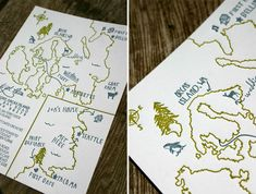 Summer Camp + Woodland-Inspired Wedding Invitations - For the Love of Press