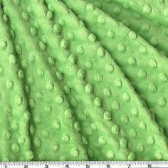 MINKY DOT Cuddle Dimple Dot vert clair : Tissus Habillement, Déco par les-bricoles-de-m-martine