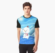 'Snowbaby on Sparkling Ice' Graphic T-Shirt by We ~ Ivy Presents For Friends, My Themes, Sparkling Ice, Graphic Shirts, Hoodies, Sweatshirts, Ivy, Snowman, Classic T Shirts