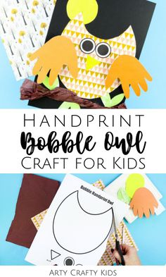 Looking for paper owl crafts for kids to make at home or at preschool? These handprint owl crafts for kids to make are fun because they bobble + easy for children to make with our printable craft templates! Get printables + videos for these hand print owl crafts for kids, plus other hand print crafts for kids, here! Fall Animal Crafts for Kids | Forest Animal Crafts for Kids | Autumn Crafts for Kids | Fall Crafts for Kids | Autumn Animal Crafts for Kids | Hand print Animal Crafts for Kids Paper Animal Crafts, Forest Animal Crafts, Animal Crafts For Kids, Owl Crafts, Preschool Crafts, Easy Fall Crafts, Easy Arts And Crafts, Fall Crafts For Kids, Kids Crafts