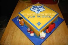 Homemade Boy Scout Blue and Gold Banquet Cake: I was asked to make a Boy Scout for the yearly Blue & Gold Banquet. This is the banquet which celebrates the advancements of each scout as a result of