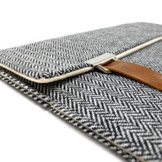 iPad case gray herringbone by MariForssell on Etsy