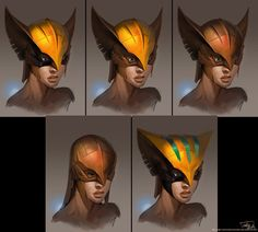 Injustice: Gods Among Us - Hawkgirl Face Concept