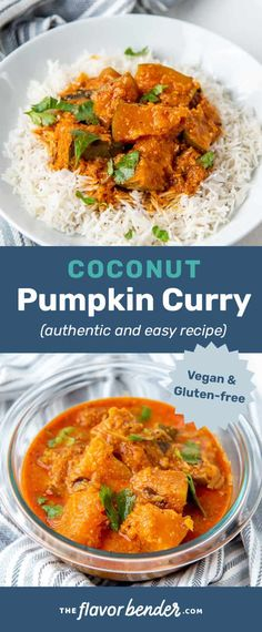 This Authentic Sri Lankan Pumpkin Curry will be the best pumpkin curry you ever make! Packed with so much flavor, this gluten free and vegan curry is a super comforting dish for any time of the year! Easy to make and freezes well. #TheFlavorBender #PumpkinCurry #PumpkinRecipes #SriLankanRecipes #AsianRecipes