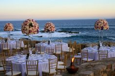 Lavender and gold wedding at Esperanza Resort