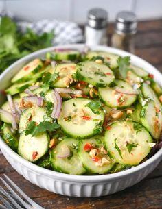 Cucumber Baby Food Recipe, Cucumber Carrot Salad, Cucumber Recipes, Cucumber Salad Dressing, Vegetable Side Dishes, Vegetable Recipes, Vegetable Salad, Carrot Recipes, Healthy Recipes