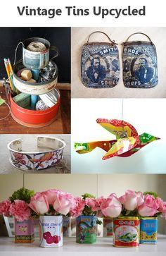 Upcycled: Vintage Tea, Spice, & Biscuit Tins