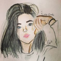 Tumblr girl drawing by @its.silvermoon (instagram account)