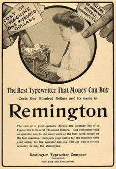Remington Typewriter Co. advertisement, 1910
