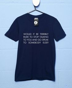 Terribly Rude T Shirt - Navy / Small