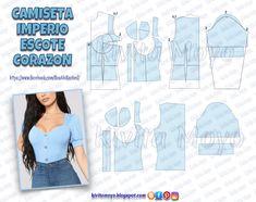 Corset Sewing Pattern, Dress Sewing Patterns, Clothing Patterns, Skirt Patterns, Coat Patterns, Pattern Drafting, Fashion Sewing, Diy Fashion, Ideias Fashion