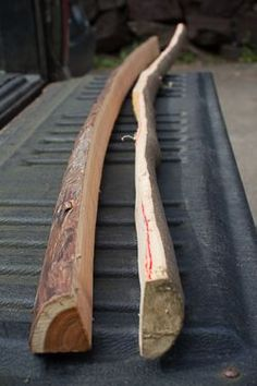 How to make a bow and arrow - Roughed out Bows. I am making my own right now. Get a draw knife makes things easier