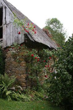 Old barn in Ariège, France**