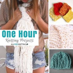 One Hour Knits: 17 Quick Knitting Patterns One Hour Knits: 17 Quick Knitting Patterns,Easy Knitting Projects One Hour Knitting Projects: 20 Easy Knitting Patterns Beginner Knitting Patterns, Easy Knitting Projects, Creative Knitting, Yarn Projects, Knitting For Beginners, Loom Knitting, Knitting Stitches, Knit Patterns, Free Knitting