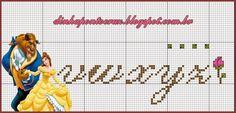 """Olá meninas!  Hoje dois monogramas especiais para vocês do tema """"A Bela e a Fera""""                                           este segundo foi..."""