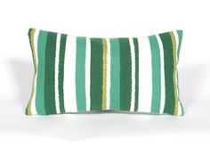 Visions II Emerald Stripe Lumbar Pillow