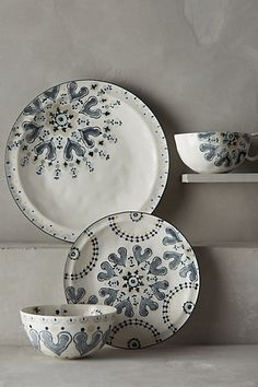 I want this set so bad.  Fandoline Dinnerware #anthropologie.