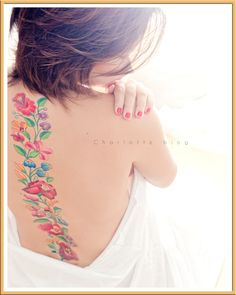 kalocsai flowers tatoo - I absolutely love it!