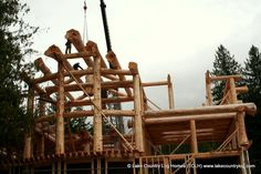 Handcrafted Post and Beam Western Red Cedar Log Home