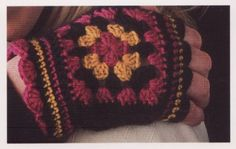 granny square gloves. Love these.  I know my friend Charissa do well making these.