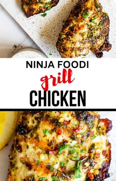 If you want a delicious grilled dinner without needing to head outdoors, this Ninja Foodi Grill Chicken Breast is absolute perfection. With just four ingredients (plus salt and pepper), you have perfectly seasoned chicken with all the charr you would expect from outdoor grilling. This grilled chicken is tender and juicy with just the right amount of crispiness. Don't have a Ninji Grill? No worries - I have got traditional grilling instructions too! Grilled Chicken Breast Recipes, Low Carb Chicken Recipes, Turkey Recipes, Easy Healthy Recipes, Paleo Recipes, Dinner Recipes, Keto Chicken, Meat Recipes, Free Recipes