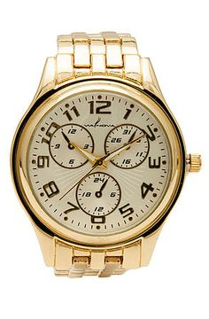 The Timeless Boyfriend Watch in Gold by *MKL Accessories