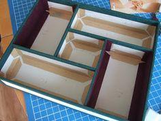 """Tuto pour réaliser la dernière boîte que j'ai faîte, la """"boîte à bijoux Arlequin..."""
