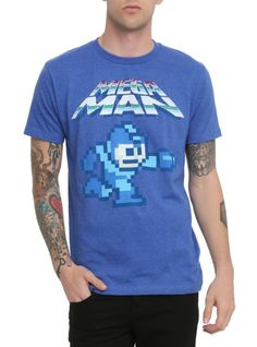 My husband bought this shirt recently :) 8 bit Mega man