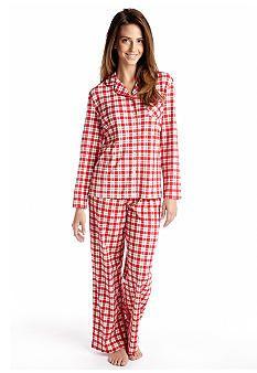 1239a8eb19 Karen Neuburger Red Plaid Knit Pajama Set Red Plaid
