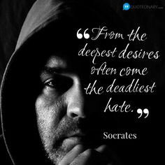 Socrates #quote about hate