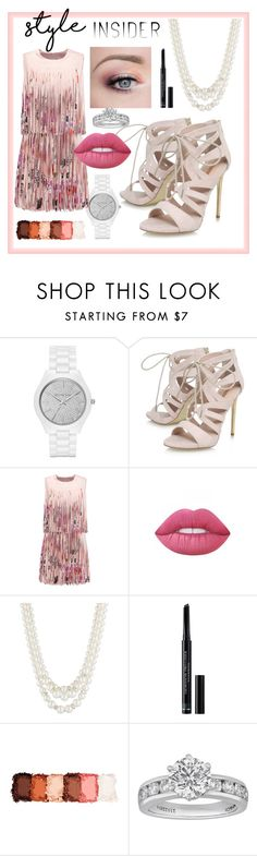"""""""Roses & Pearls"""" by isabelgarcia-3 ❤ liked on Polyvore featuring Michael Kors, Carvela, Alexis, Lime Crime, Anne Klein, Christian Dior, NYX, Tiffany & Co., contestentry and laceupsandals"""