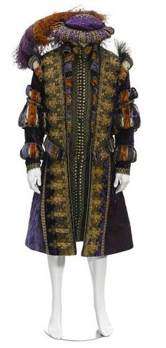 """Jeremy Irons """"Aramis"""" purple embroidered costume with hat from The Man in the Iron Mask - the masked ball scene"""