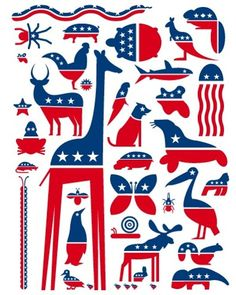 10 Political Parodies By Designers: Party Animals