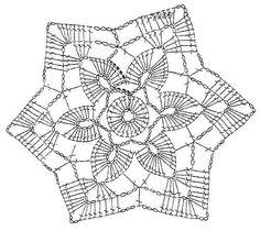 crochet patterns of Doilies, Tablecloths, Pillows, Coasters Art Au Crochet, Mandala Au Crochet, Free Crochet Doily Patterns, Crochet Snowflake Pattern, Crochet Stars, Crochet Motifs, Crochet Snowflakes, Crochet Diagram, Crochet Designs