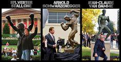 Action Movie Stars und ihre Statuen - http://www.dravenstales.ch/action-movie-stars-und-ihre-statuen/