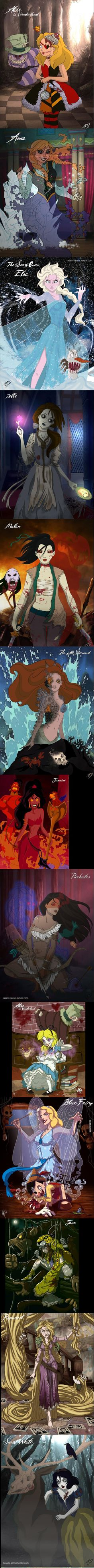 Scary Disney Princesses