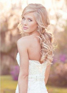 Art Wedding Hair hair-and-beauty My Hairstyle, Down Hairstyles, Pretty Hairstyles, Bridal Hairstyles, Romantic Hairstyles, Hairstyle Ideas, Bridesmaid Hairstyles, Perfect Hairstyle, Hairstyles Haircuts